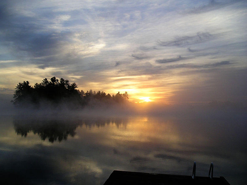 Muskoka morning (dock)